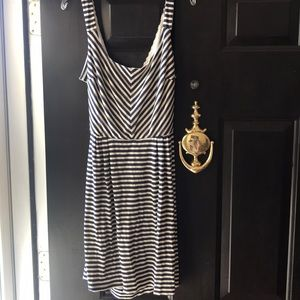 Dresses & Skirts - Navy blue and white striped dress